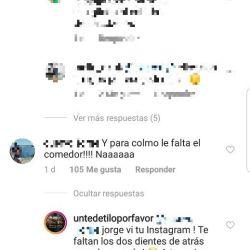 La actriz defendió a su novio en Instagram.