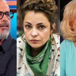 Dolores Fonzi y Jorge Rial apoyan el aborto legal, Mirtha está en contra.