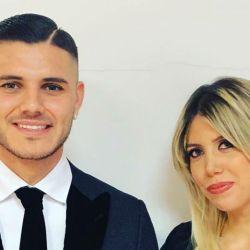 Mauro Icardi y Wanda Nara.