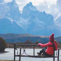 Los cuernos del Paine desde el mirador del hotel Río Serrano.