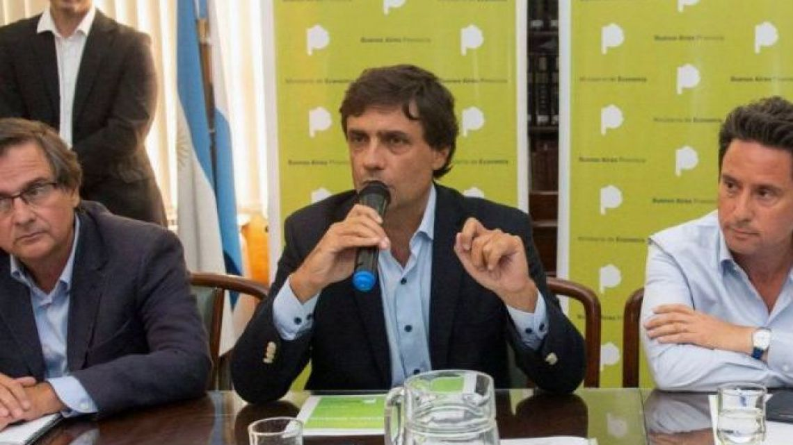Buenos Aires province's Economy Minister Hernán Lacunza.