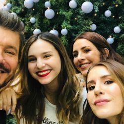Marcelo, Juanita, Cande y Mica Tinelli