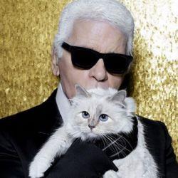 Karl Lagerfeld, el Káiser de la moda junto a Choupette.