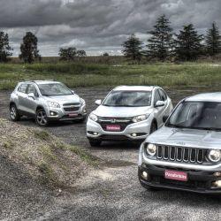 Triple comparativo: Jeep Renegade vs Honda HR-V vs Chevrolet Tracker