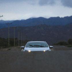 Toyota Corolla, en la entrada al Parque Nacional Ischigualasto
