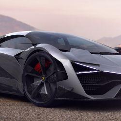 Renderización 3D del Lamborghini Trono