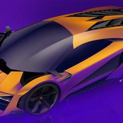 Diferentes bocetos del Lamborghini Trono diseñado por tres artistas indios