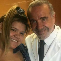 Morena Rial, junto a su médico