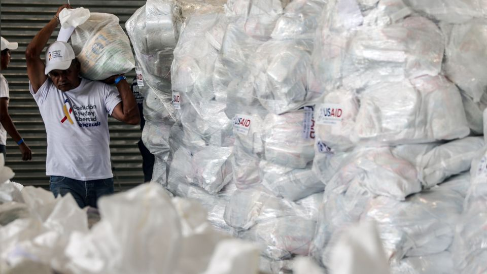 Humanitarian Aid Arrives At Border As Maduro Pledges To Block Supplies