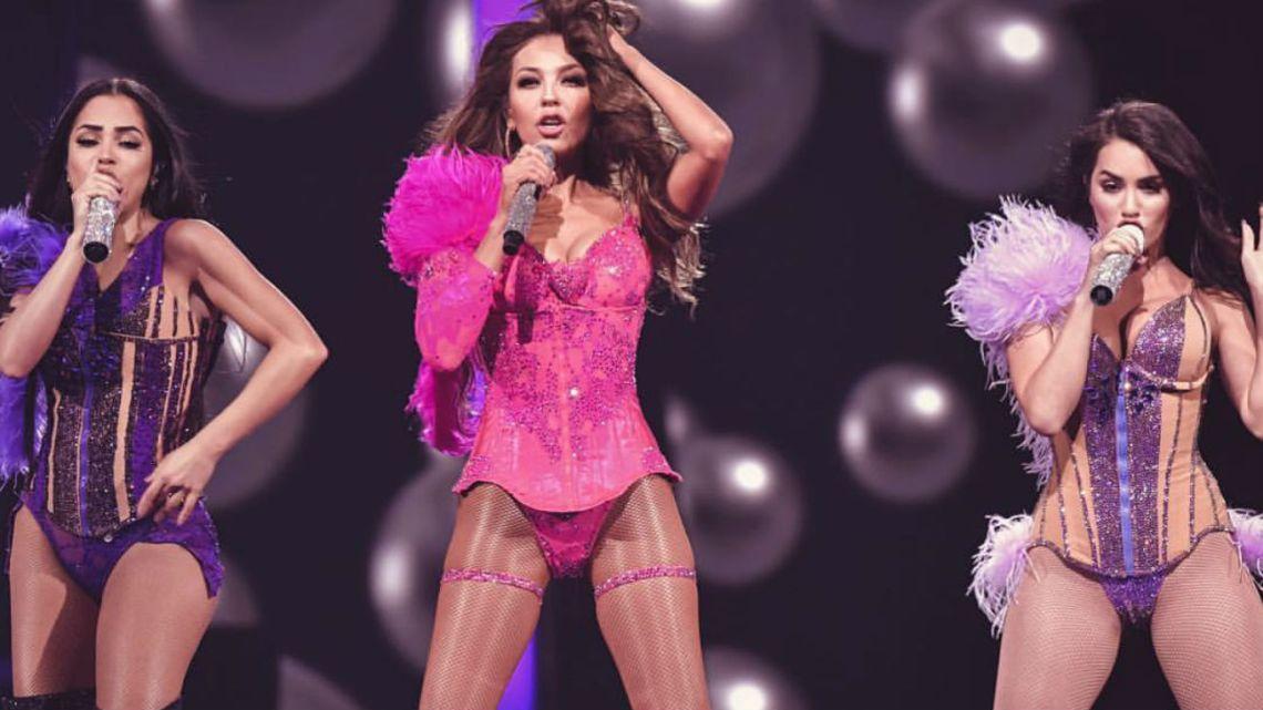 Thalía, Natti Natasha y Lali brillaron juntas en el escenario