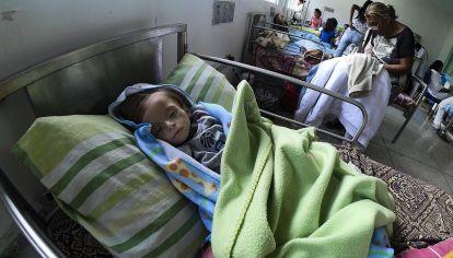 Maracay. Un niño de un año y tres meses con desnutrición.