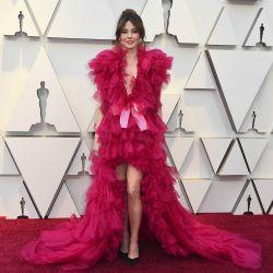 Linda Cardellini de Green Book en un vestido total pink que despertó diversas reacciones en la red carpet