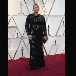 Queen Latifah también desfiló por la red carpet