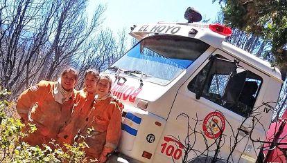 Ellas. Este mes, María y Luciana Cárdenas e Inés Ardalla combatieron el fuego hace 15 días.