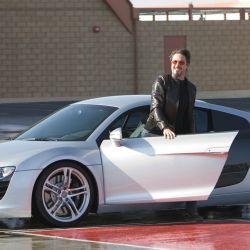 Audi R8 utilizado por Tony Stark (Robert Downey Jr.) en el film Ironman de 2008.