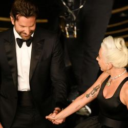 Lady Gaga y Bradley Cooper se robaron todas las miradas.