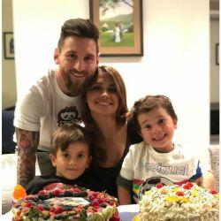 La graciosa cara de Mateo Messi que se volvió viral