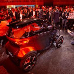 Presentación del Seat Minimó en el Mobile World Congress 2019, en Barcelona.