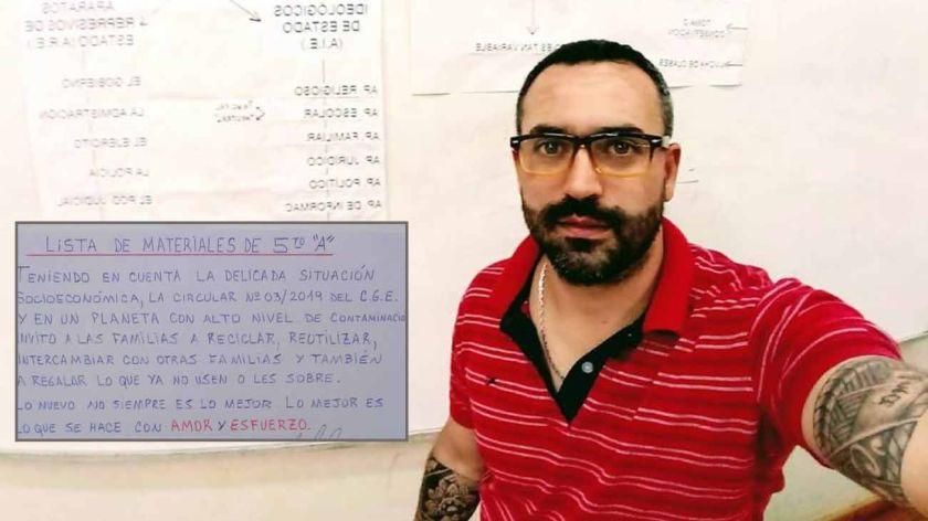 La lista de materiales de un maestro que se volvió viral