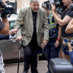 Cardinal George Pell arrives in court in Melbourne, Australia, 26 of February 2019