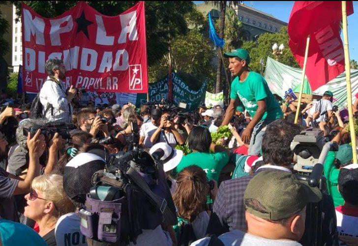 """Llega el """"alimentazo"""" a Plaza de Mayo."""
