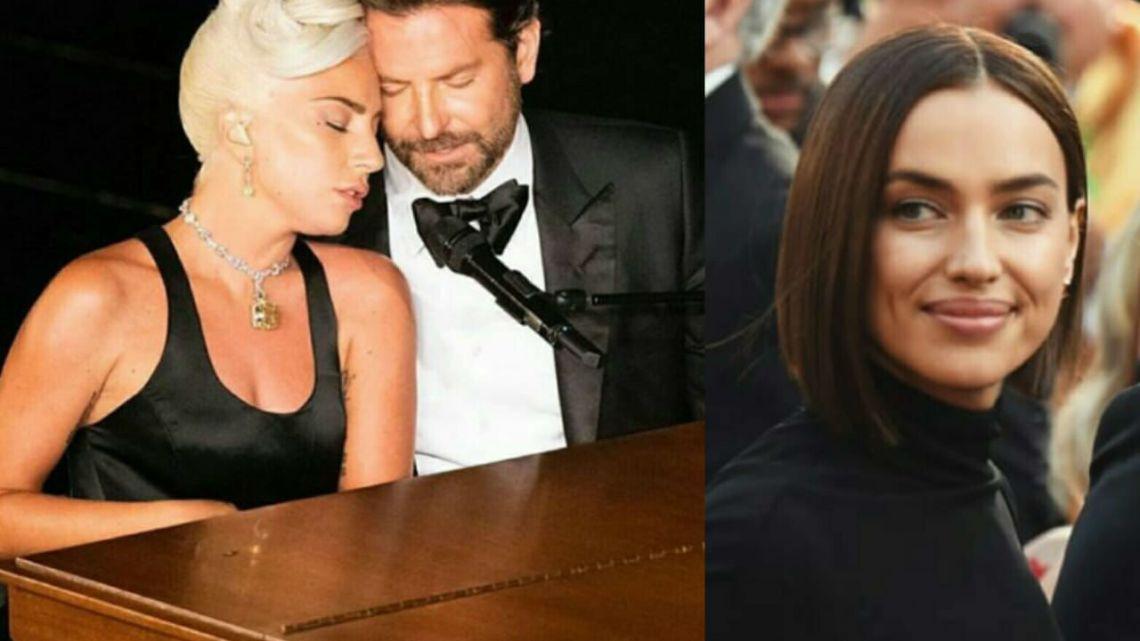 Irina Shayk, Bradley Cooper y Lady Gaga