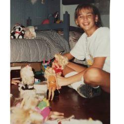 Laura Azcurra a los 11 años.