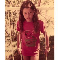Julieta Ortega a los 11 años.