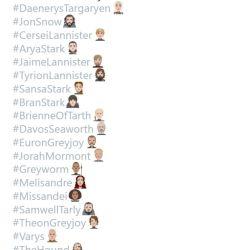 Twitter presentó los emojis de cada personaje.