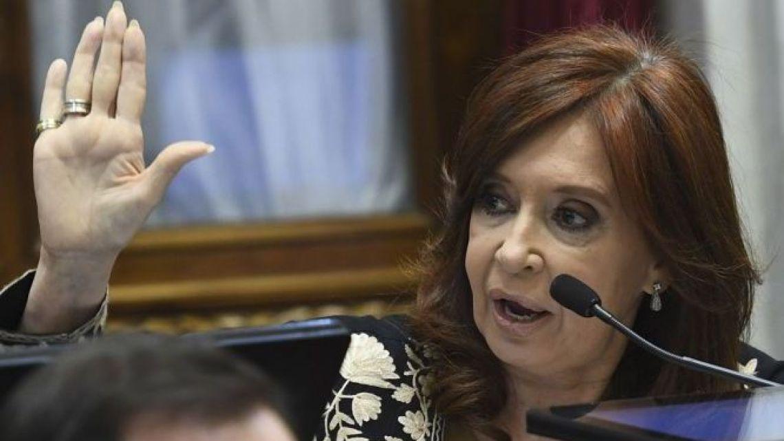 Senator Cristina Fernández de Kirchner.