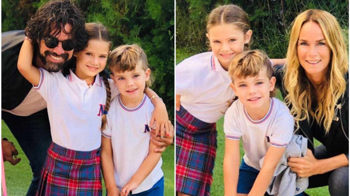 Luciano Castro y Sabrina Rojas: las fotos del primer día de clases de sus hijos