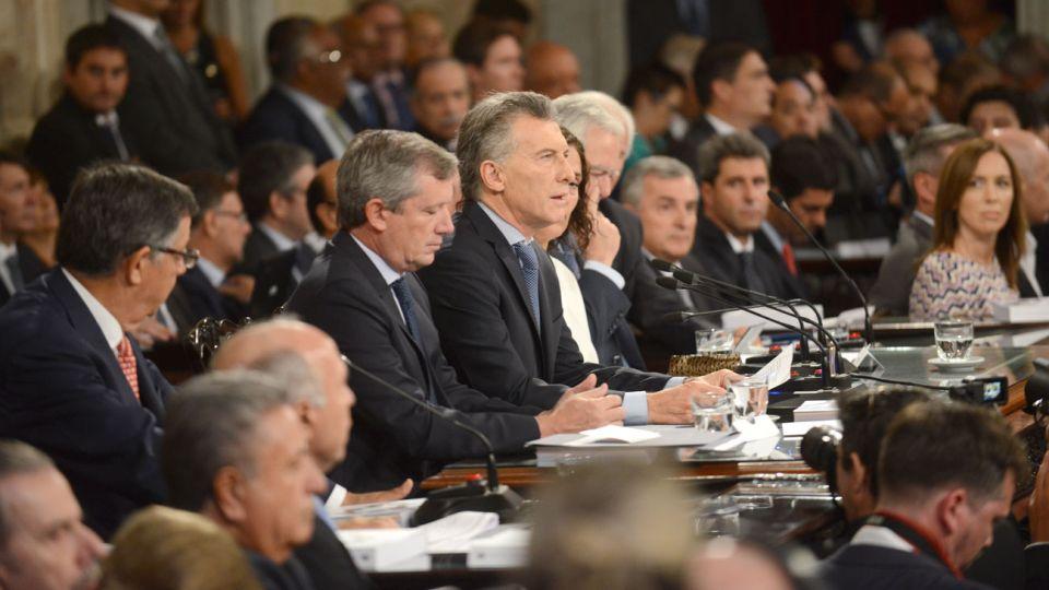 Mauricio Macri en el Congreso Nacional el 1 de marzo de 2018