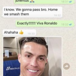 Chat Ronaldo Evra