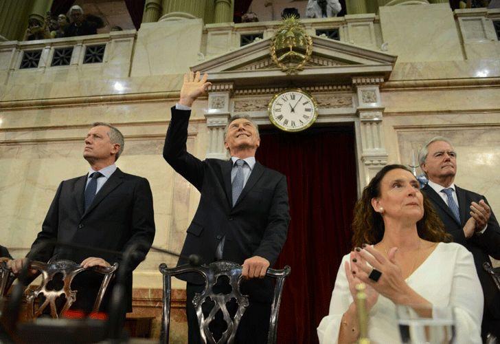 Macri en el Congreso Pablo Cuarterolo