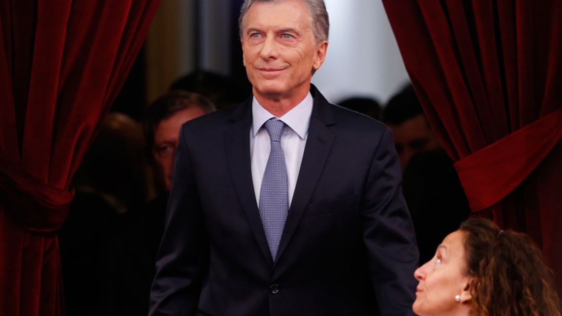 President Mauricio Macri arrives to deliver his State of the Nation speech that marks the opening 2019 session of Congress.