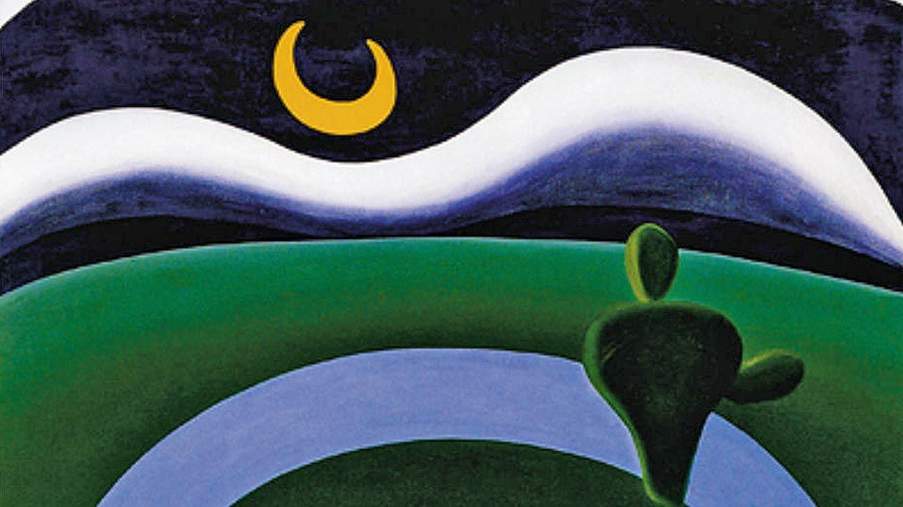 'A lua'. Fue pintado por la brasileña Tarsila do Amaral en 1928.