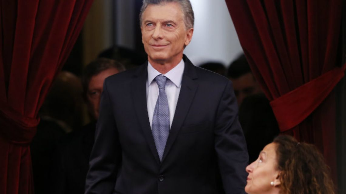 Macri at the annual opening of Congress.
