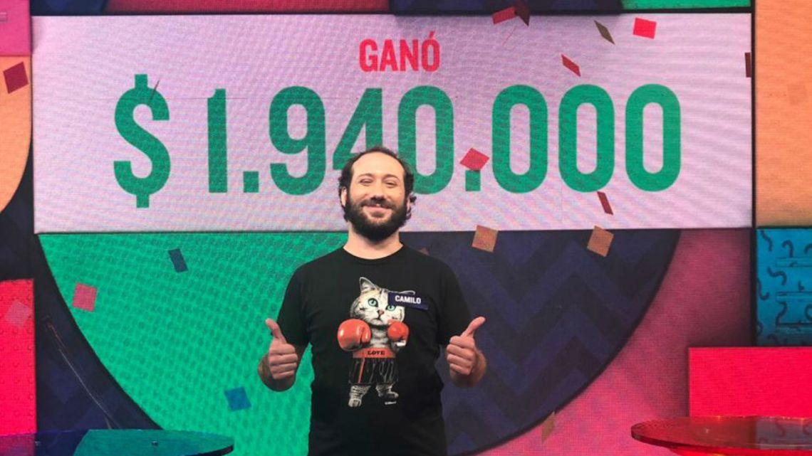 ¡Nuevo ganador! Camilo Rubio ganó el millonario Rosco de Pasapalabra