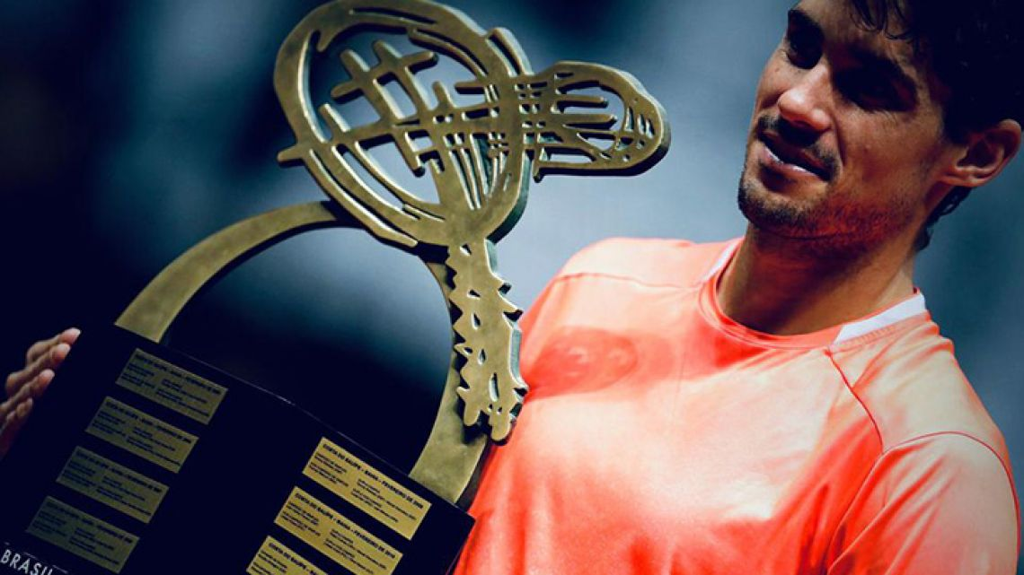 Argentine tennis player Guido Pella claimed his first career title at the Brazil Open on Sunday, ending a streak of losing all four of his previous finals.