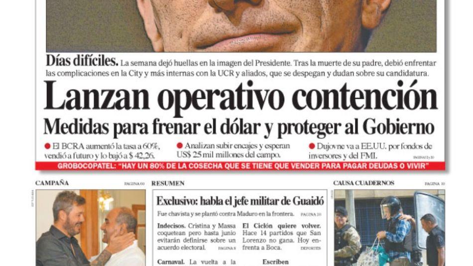 Tapa diario Perfil 09 de marzo.