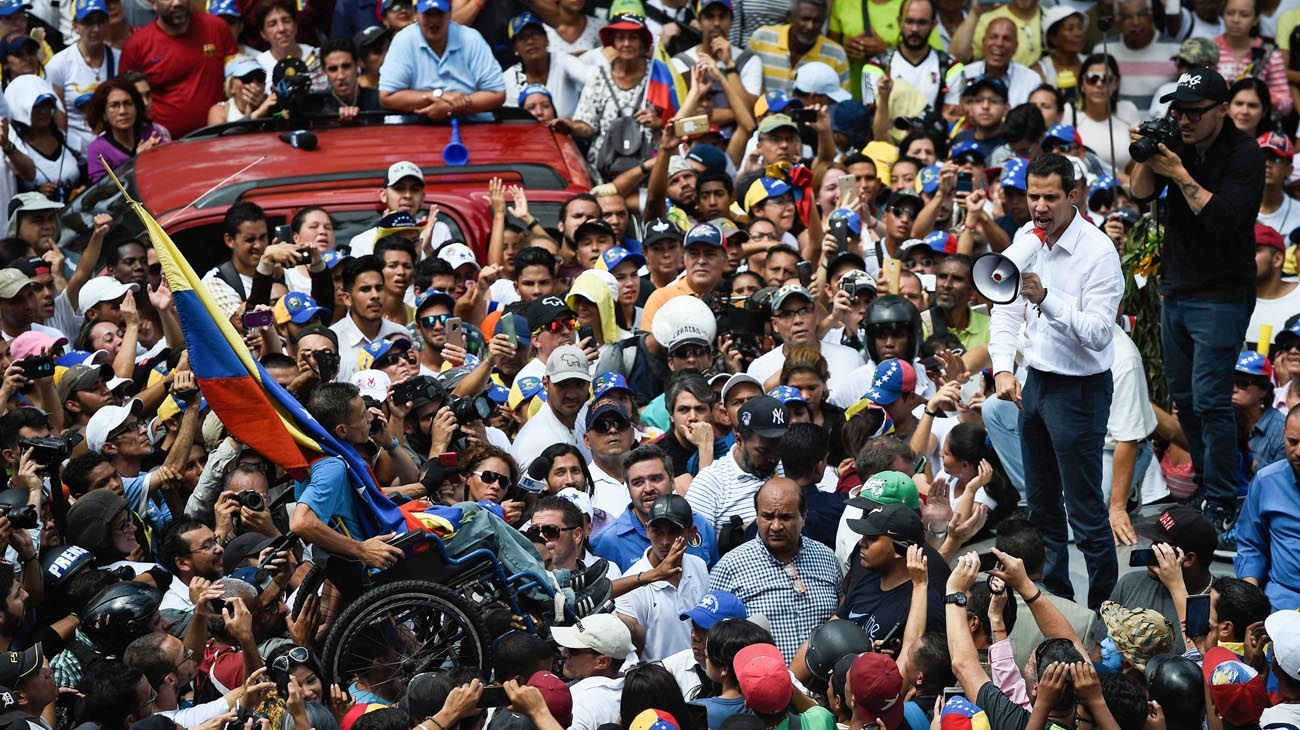 Guaidó convocó a una marcha nacional para tomar el poder