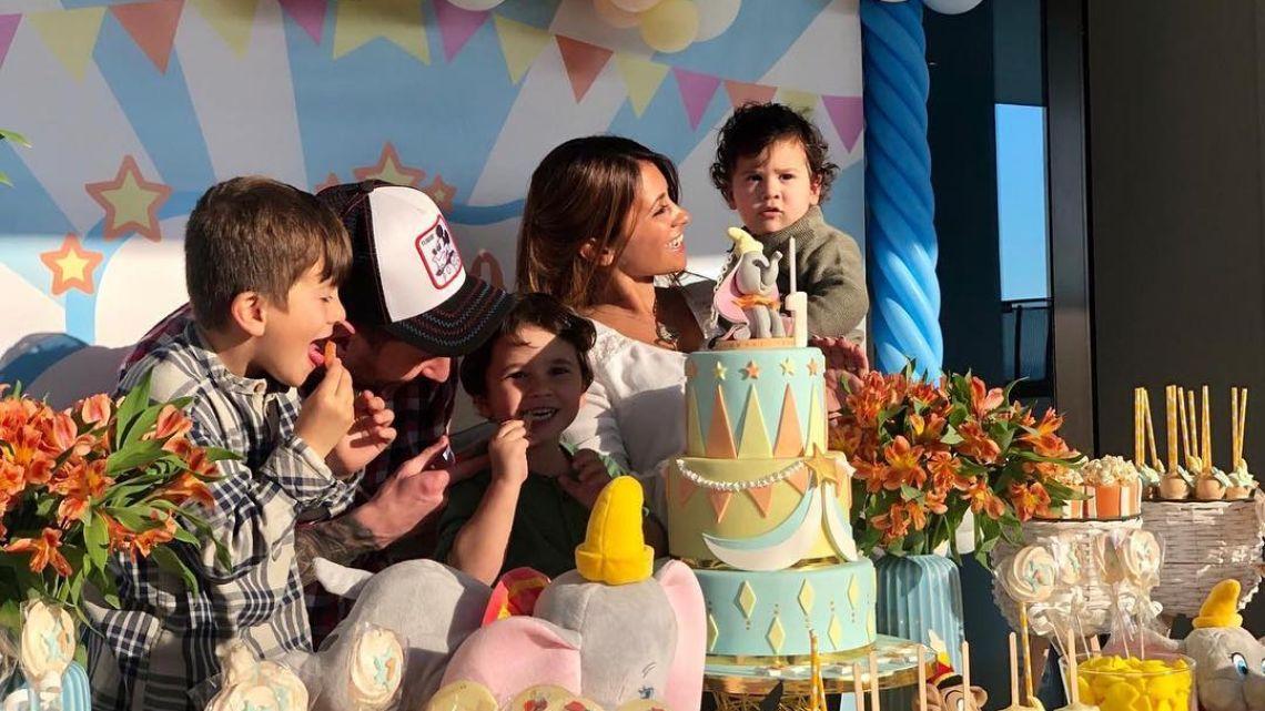 Ciro, el hijo de Leo Messi, festejó su primer añito