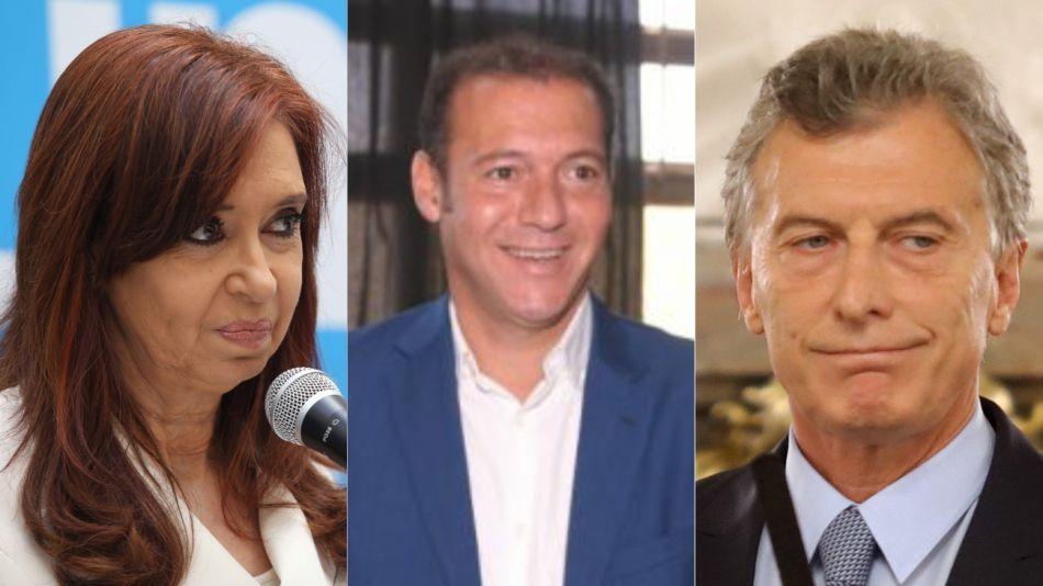 Macri, Cristina, y Omar Gutiérrez