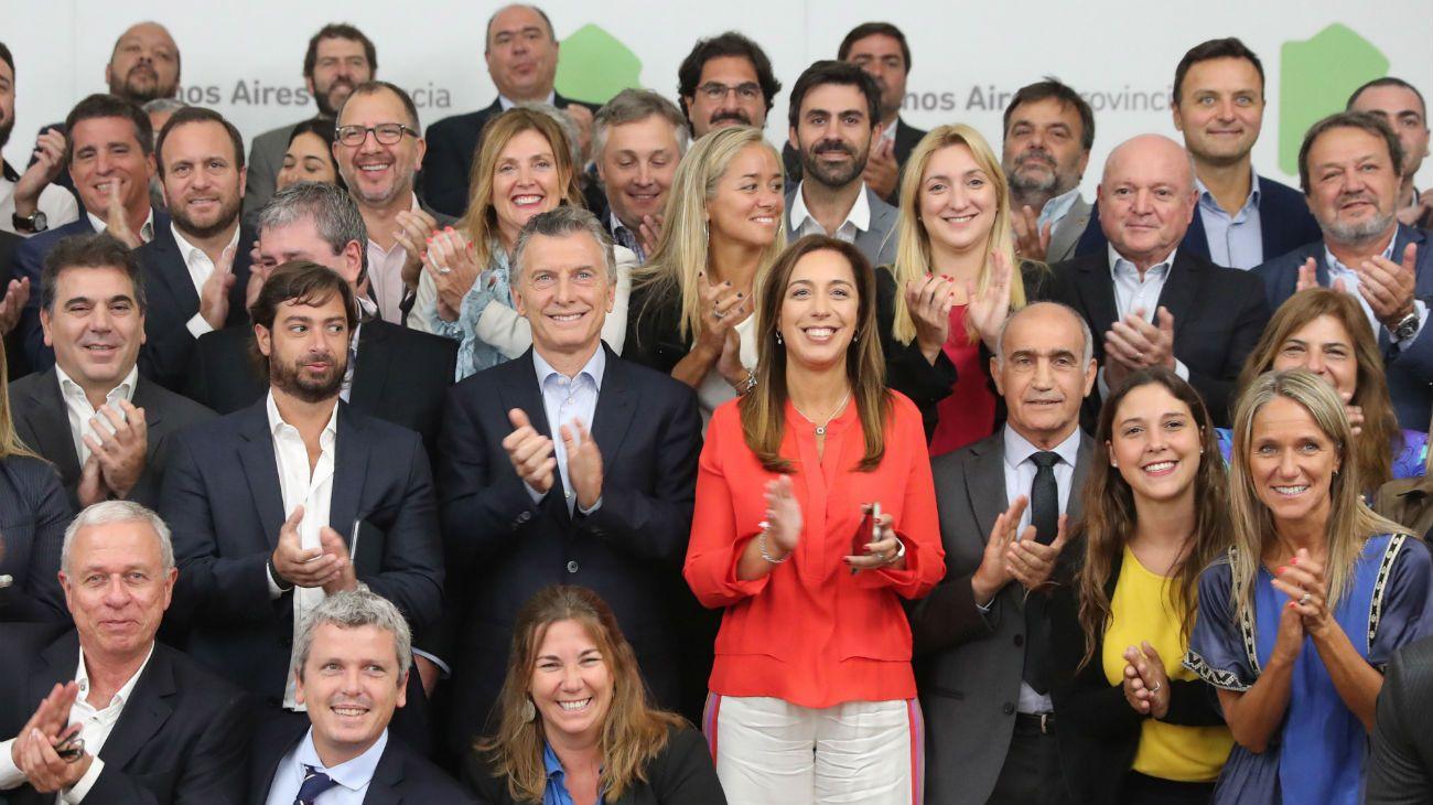Mauricio Macri se mostró junto a María Eugenia Vidal en clave electoral
