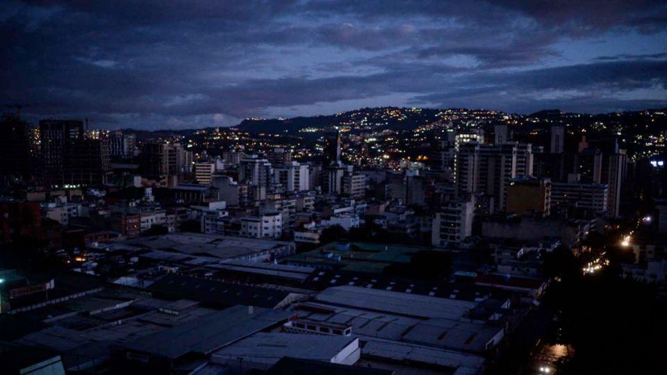 El apagon en Caracas
