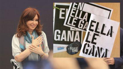 Cristina Kirchner y el kit de su nueva campaña