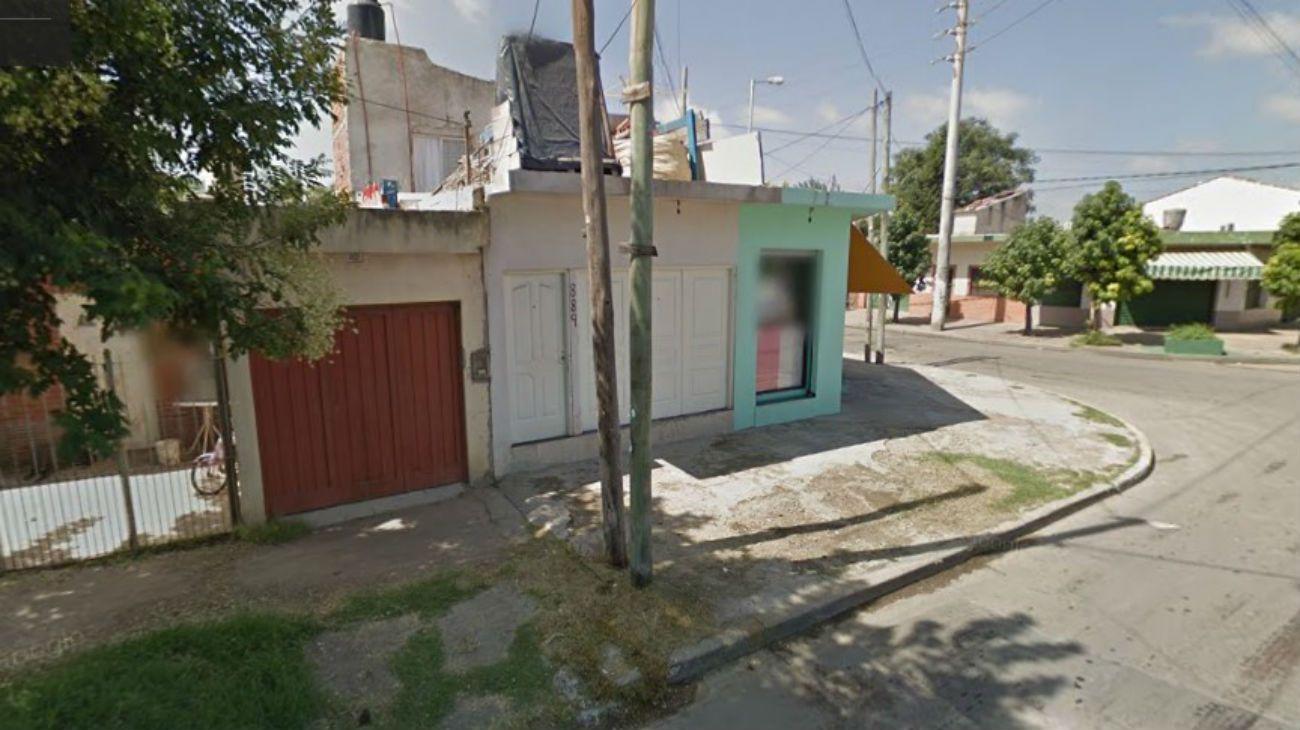 La casa donde ocurrió el incidente en la calle 18 de Octubre en José C. Paz.