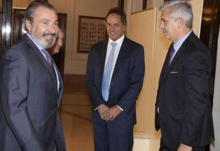 Daniel Vila, Daniel Scioli y Julián Domínguez. Legislatura porteña.