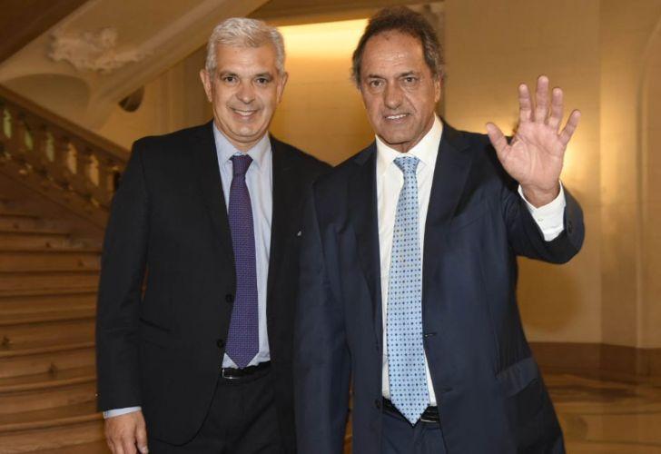 Julián Domínguez y Daniel Scioli. Legislatura porteña.