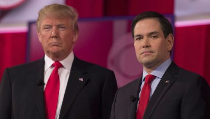 El presidente y Marco Rubio, enemigo acérrimo del castrismo